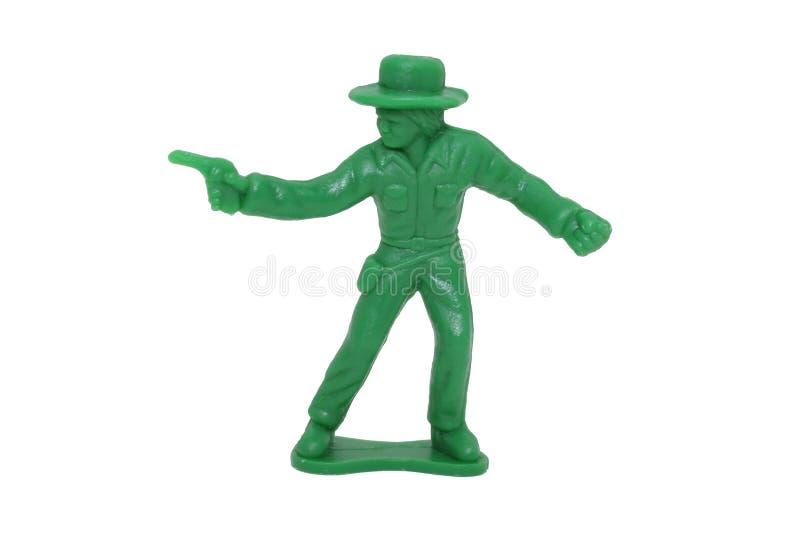 Vaquero verde del juguete (imagen 8.2mp) fotos de archivo libres de regalías