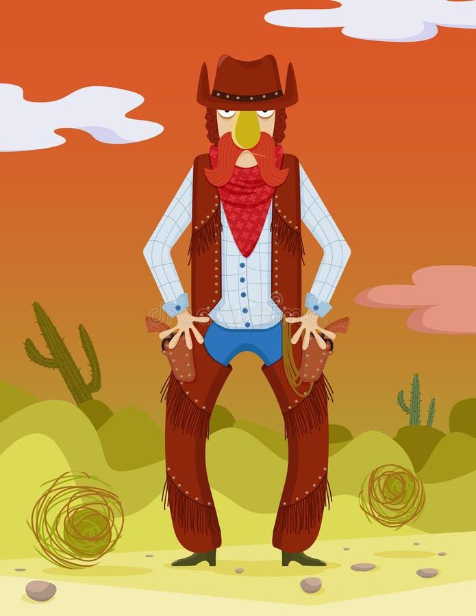 Vaquero Wild West stock de ilustración