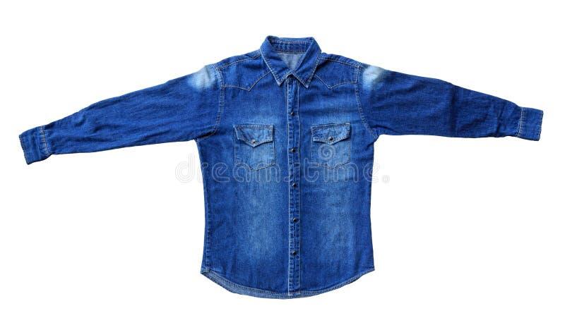 Vaqueros azules de la camisa fotografía de archivo libre de regalías
