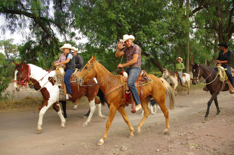 Vaqueros mexicanos fotografía de archivo