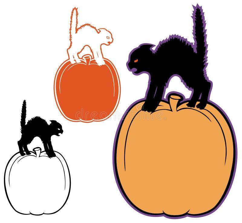 Vaquinha de Dia das Bruxas ilustração stock