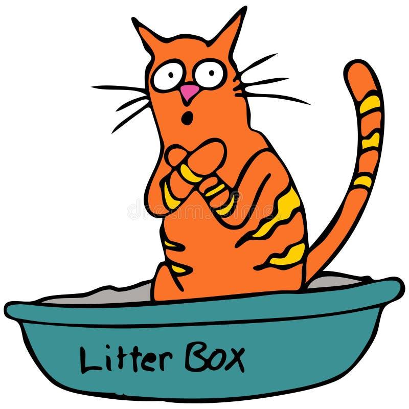 Vaquinha Litterbox ilustração royalty free