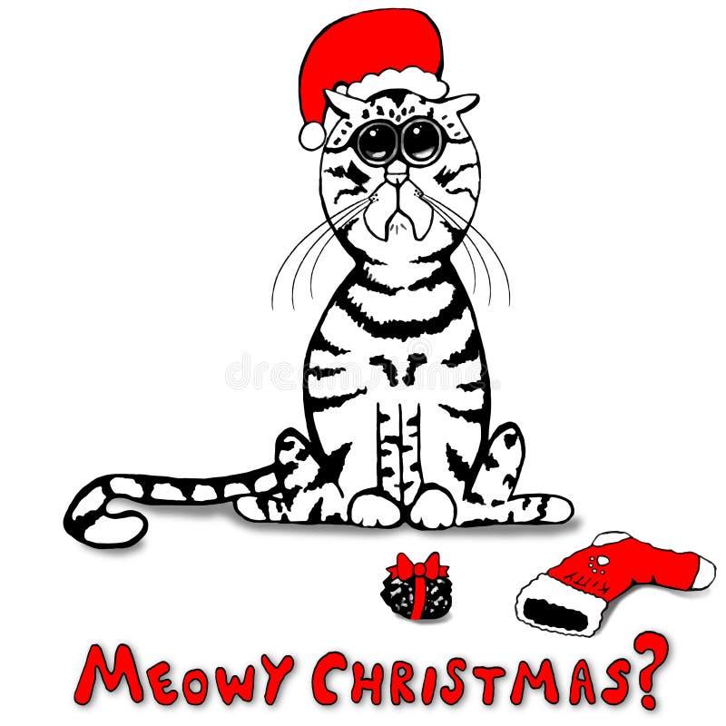 A vaquinha pequena triste era impertinente - assim Santa Brought uma protuberância do carvão ilustração royalty free