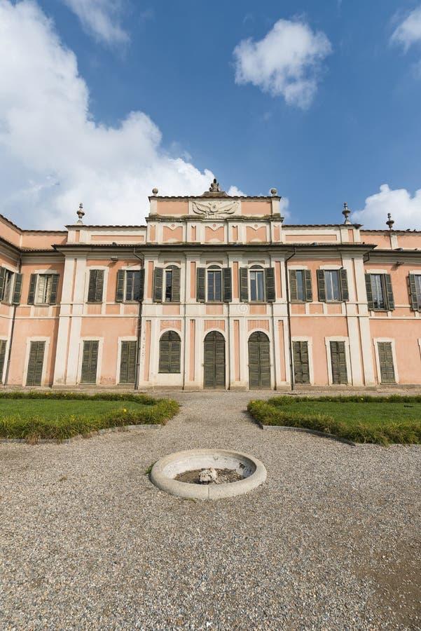 Varèse Italie : Palazzo Estense, accueillant l'hôtel de ville photos libres de droits