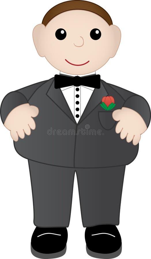 Download Varón adorable en smoking ilustración del vector. Ilustración de alineada - 7277173
