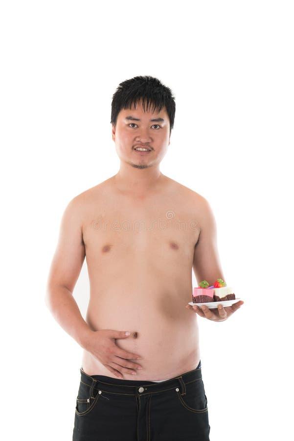 varón asiático gordo obeso imagenes de archivo