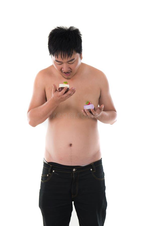 varón asiático gordo obeso fotografía de archivo libre de regalías
