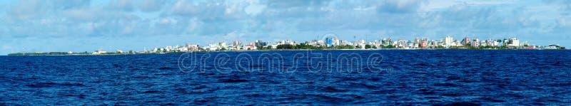 Varón - capital de Maldives. Panorama imagen de archivo libre de regalías