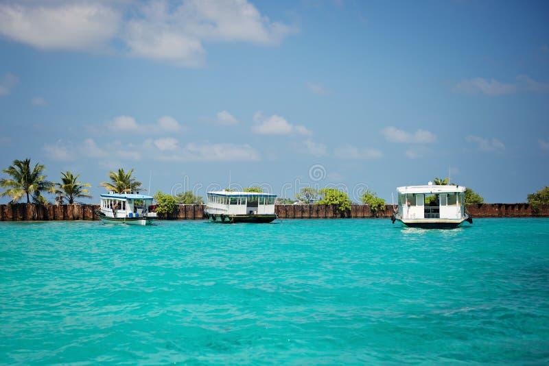 Varón - capitolio del embarcadero de Maledives fotos de archivo libres de regalías