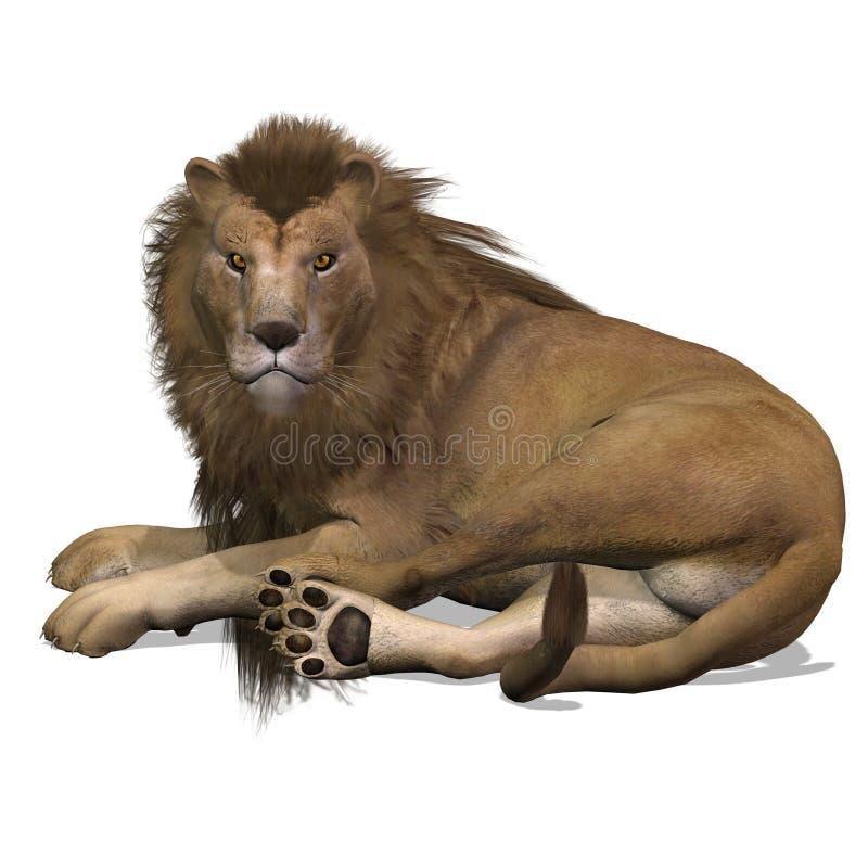 Varón del león del gato grande ilustración del vector