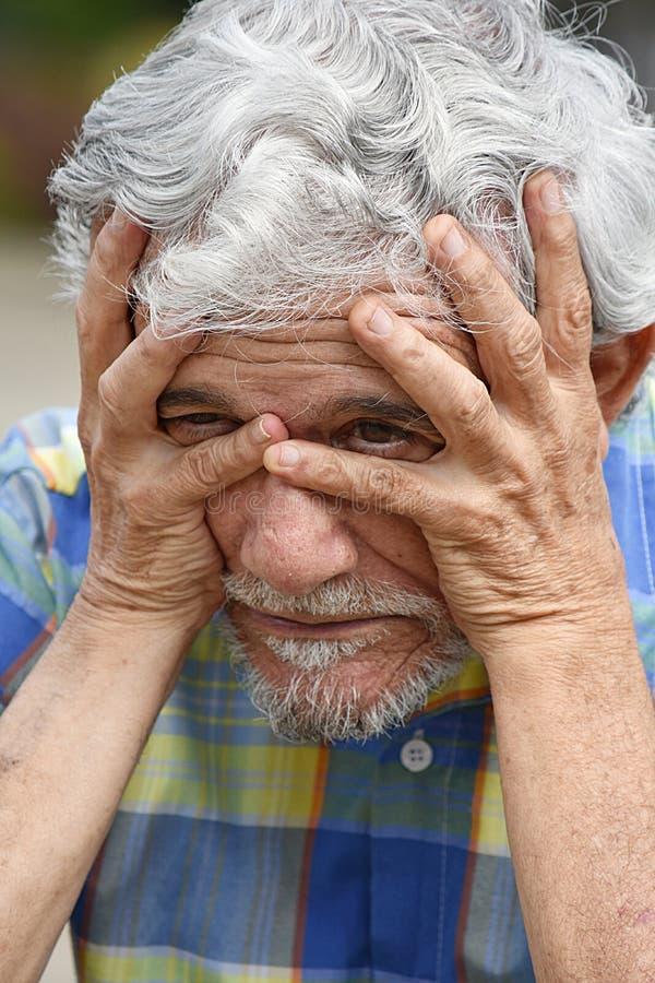 Varón deprimido del Latino foto de archivo libre de regalías