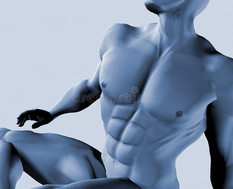 Varón Desnudo Imagenes de archivo