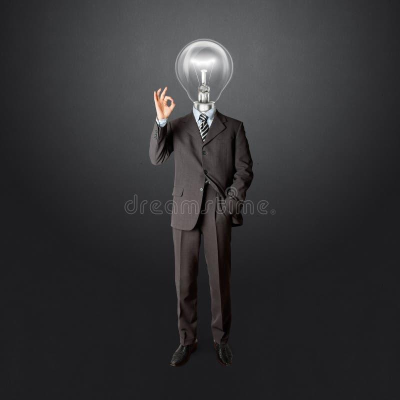 Varón integral del asunto con la lámpara-pista fotos de archivo