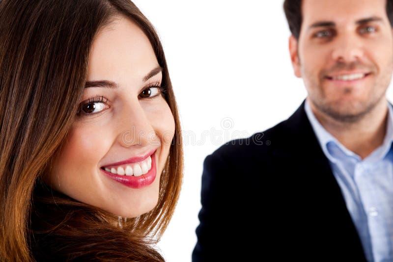 Varón y hembra felices fotos de archivo