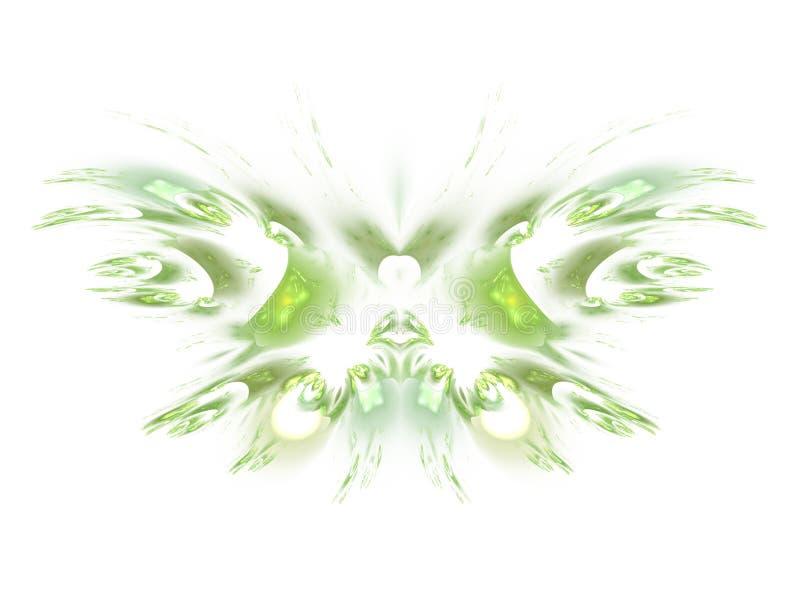 Var aldrig fractalfjärilar E stock illustrationer