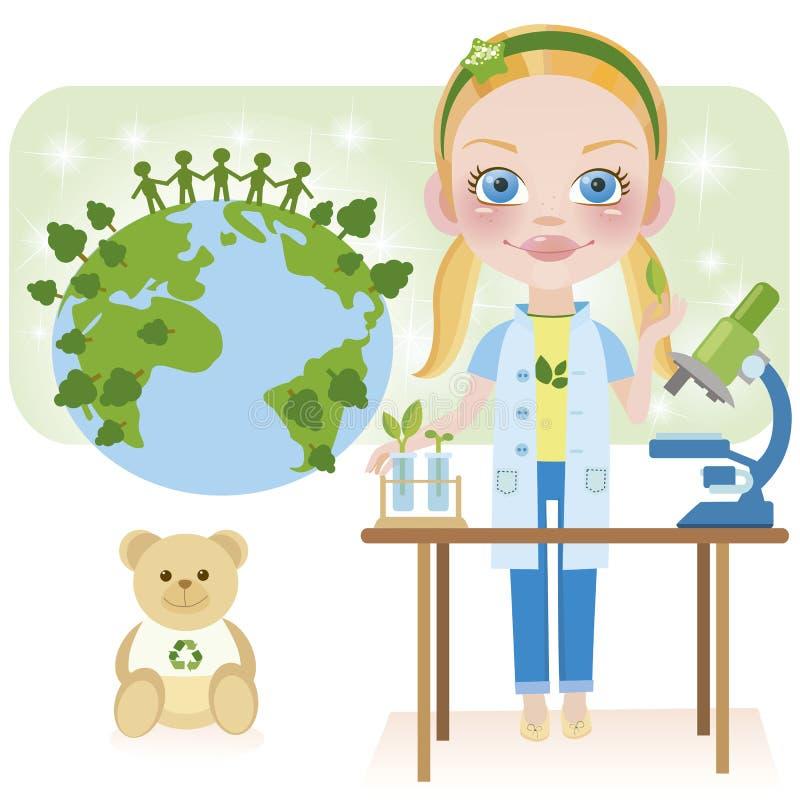 var biologekologimmaen stock illustrationer