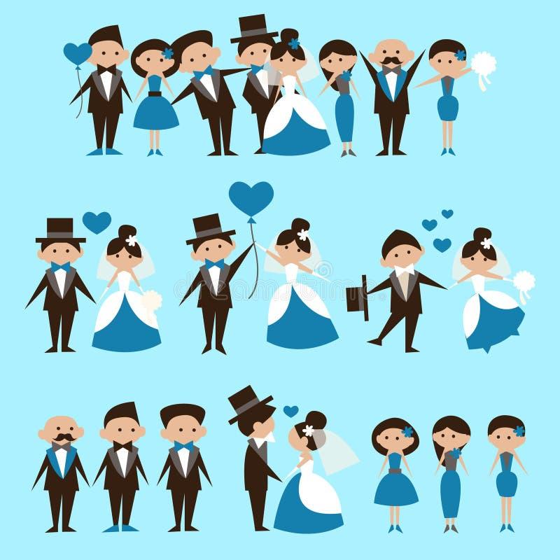 var bruden kan card kort som greeting bröllop för cirklar för brudguminbjudanpaneler använt mallen stock illustrationer