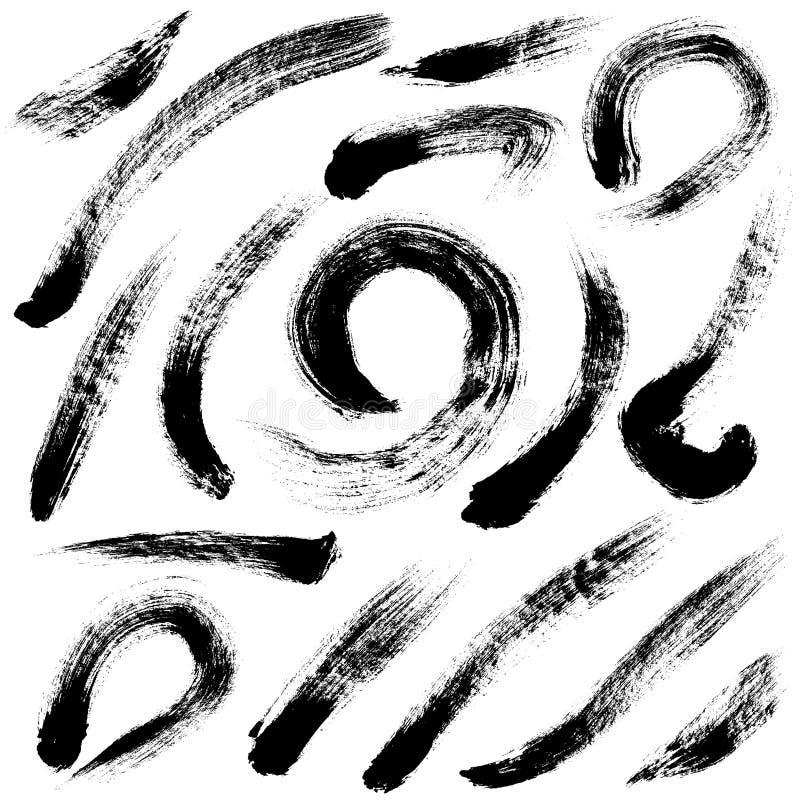 var den abstrakt borsten målad verklig slaglängdtextur till spårat stock illustrationer
