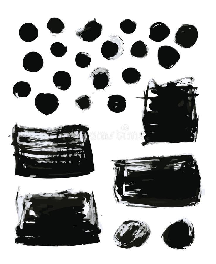 var den abstrakt borsten målad verklig slaglängdtextur till spårat royaltyfri illustrationer
