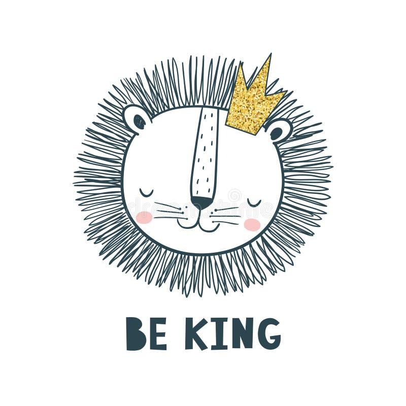 Var konungen Vektorillustration för ungar royaltyfri illustrationer