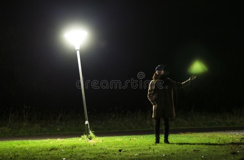 var låt lampa där fotografering för bildbyråer
