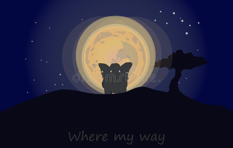 Var min väg stock illustrationer
