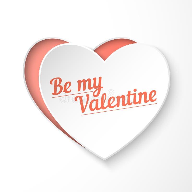 Download Var Mitt Kort För Ferie För Hjärta För Valentinpapper 3d Vektor Illustrationer - Illustration av lyckligt, geometriskt: 37344459