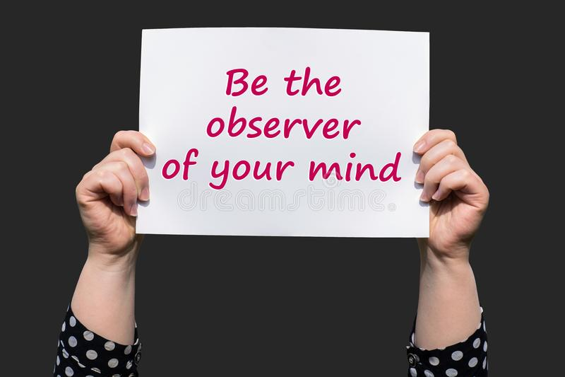 Var observatören av din mening arkivbilder