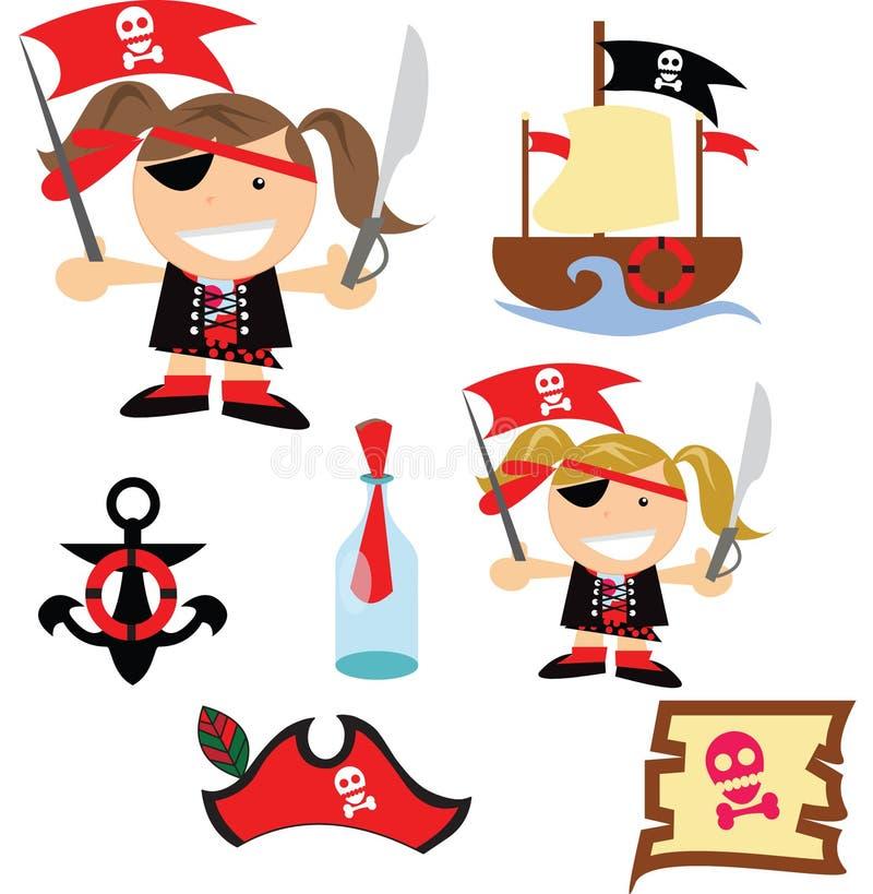 var piratkopierar havet royaltyfri illustrationer