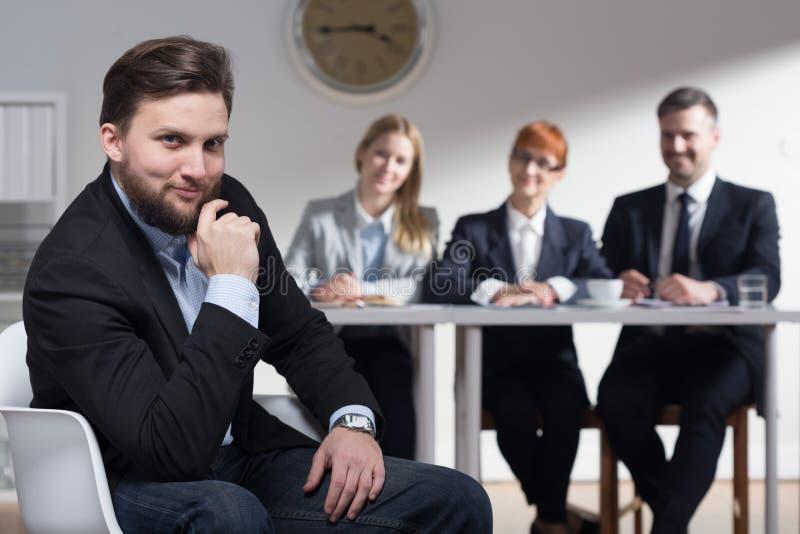 Var säker för din jobbintervju royaltyfri foto