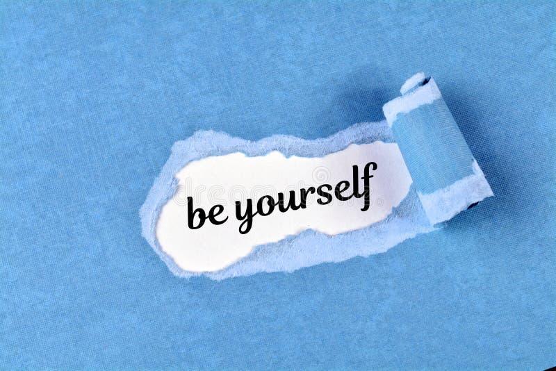 Var själv ordet arkivbild