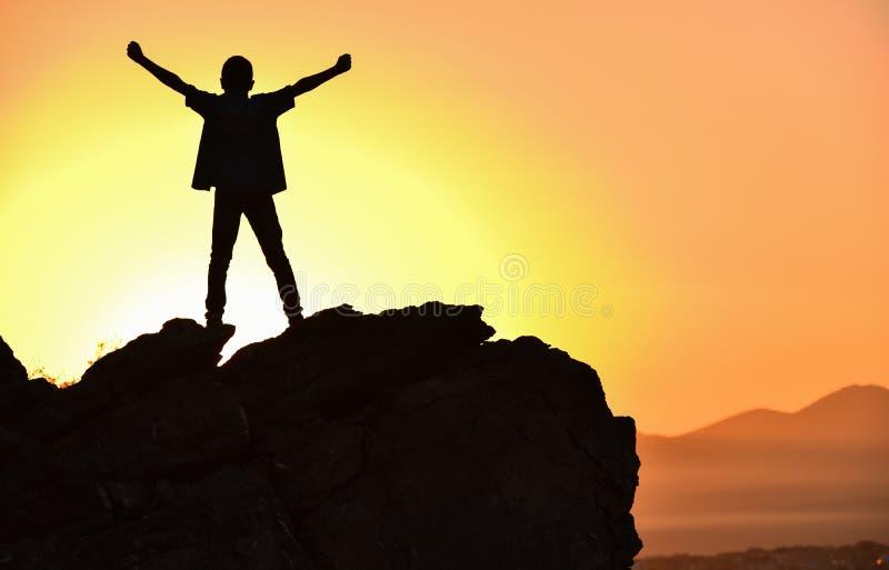 vara beslutsamt, starkt och lyckat folk royaltyfri bild