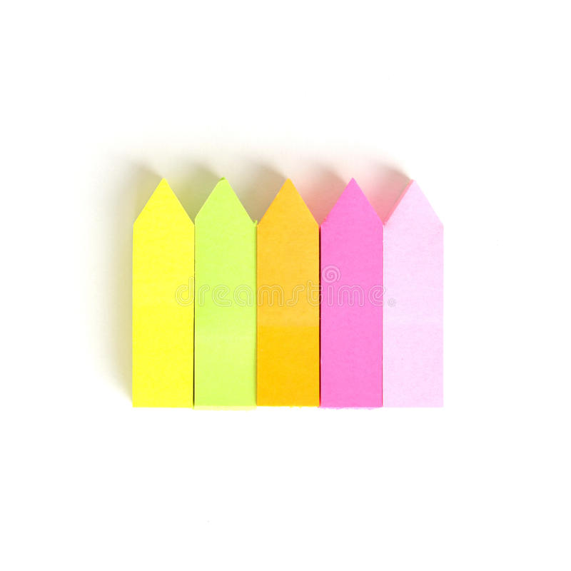 Vara colorida do memorando da seta imagem de stock royalty free