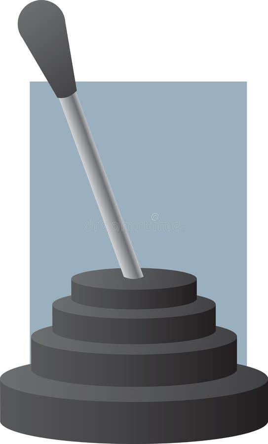 Vara da SHIFT de engrenagem da transmissão do veículo ilustração stock