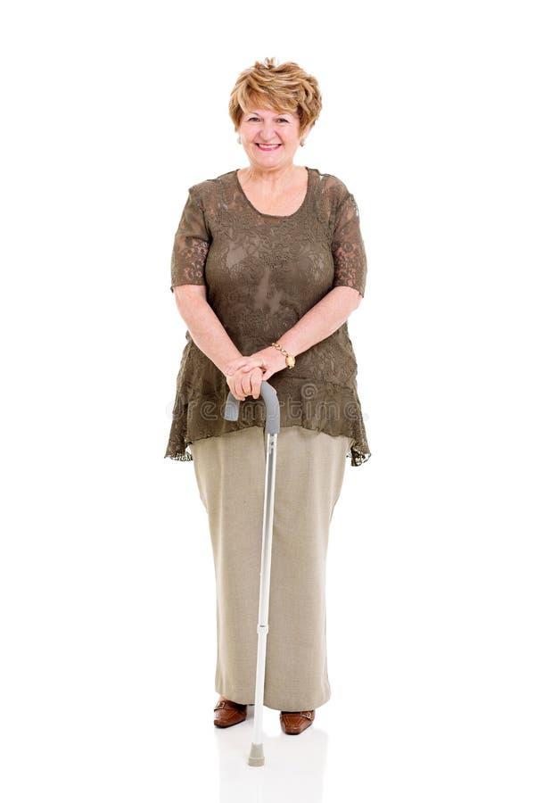 Vara de passeio superior da mulher foto de stock