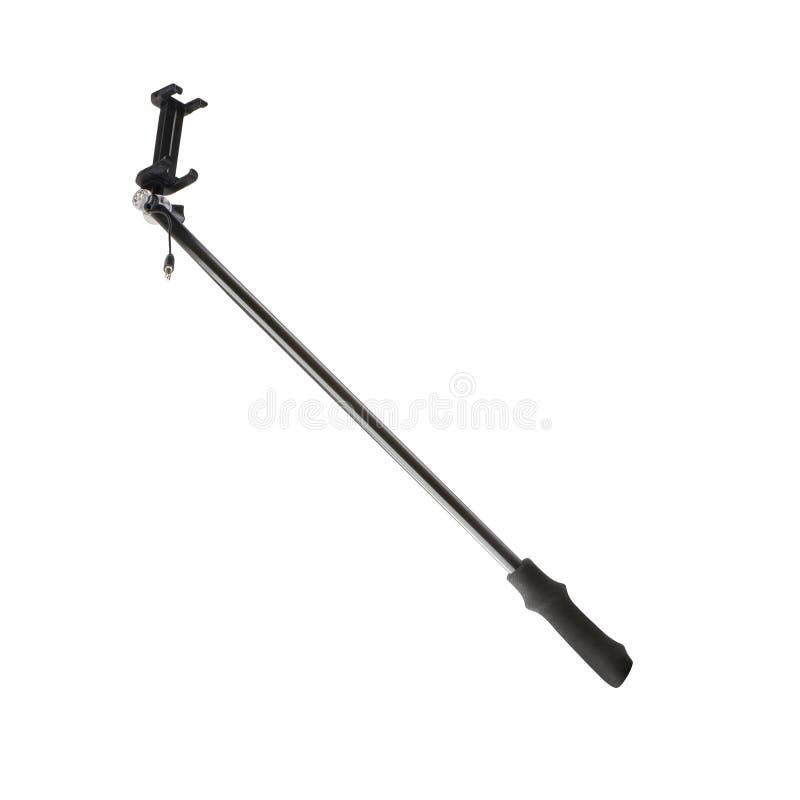 Vara de Selfie com uma braçadeira ajustável na extremidade foto de stock
