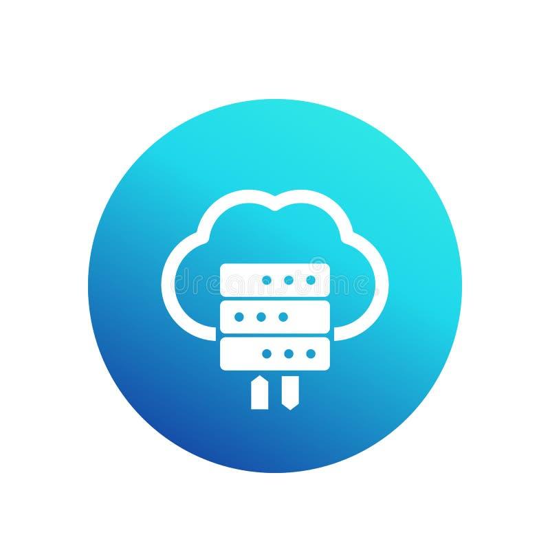 Vara värd den vektorsymbolen, serveren och molnet royaltyfri illustrationer