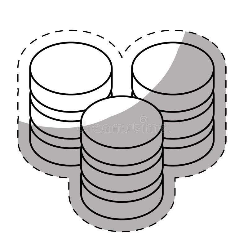vara värd för rengöringsduk eller datorhall släkt symbolsbild royaltyfri illustrationer