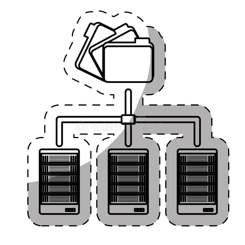 vara värd för rengöringsduk eller datorhall släkt symbolsbild vektor illustrationer