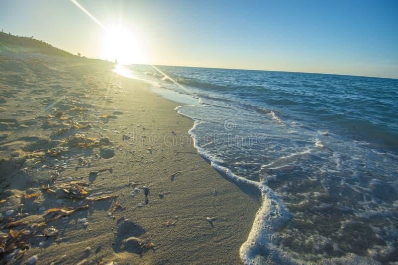Varadero het strand is een verbazende bestemming in Caribbeans royalty-vrije stock afbeelding