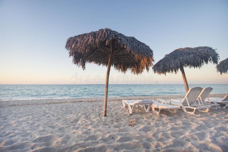 Varadero strand, perfecte bestemming in Caribbeans stock fotografie