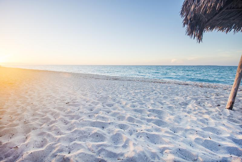 Varadero strand, perfecte bestemming in Caribbeans stock afbeeldingen