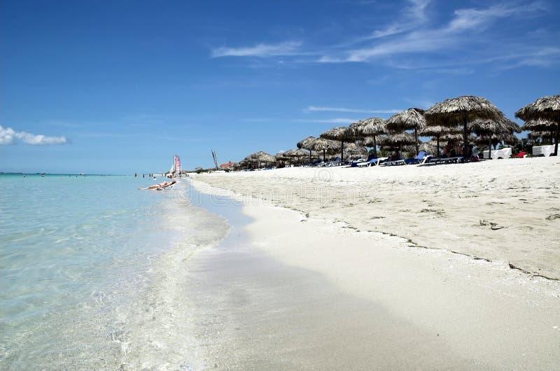Varadero stranden stock afbeelding