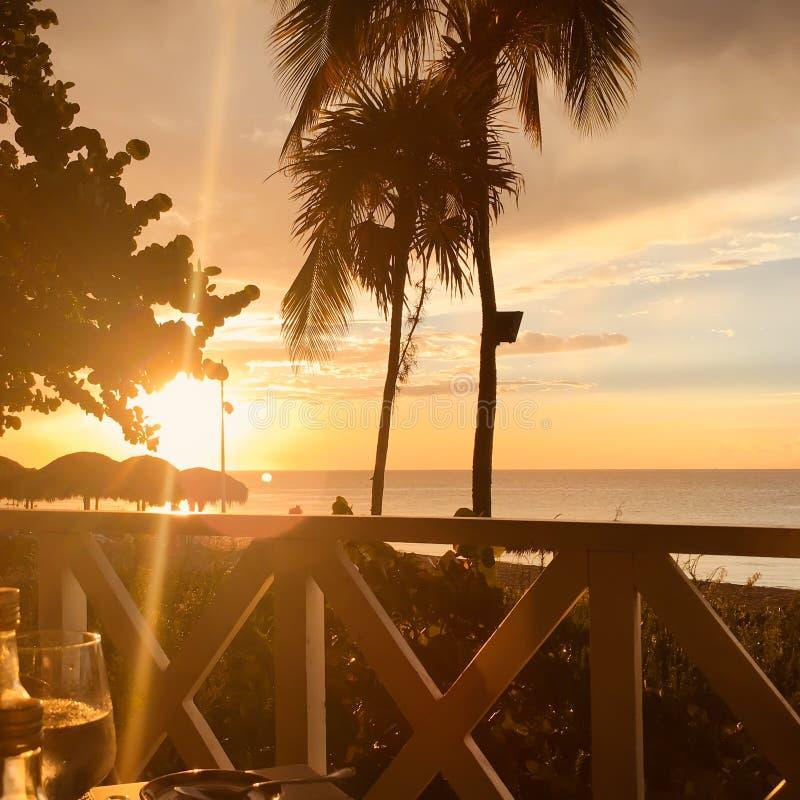 Varadero sunset stock photography