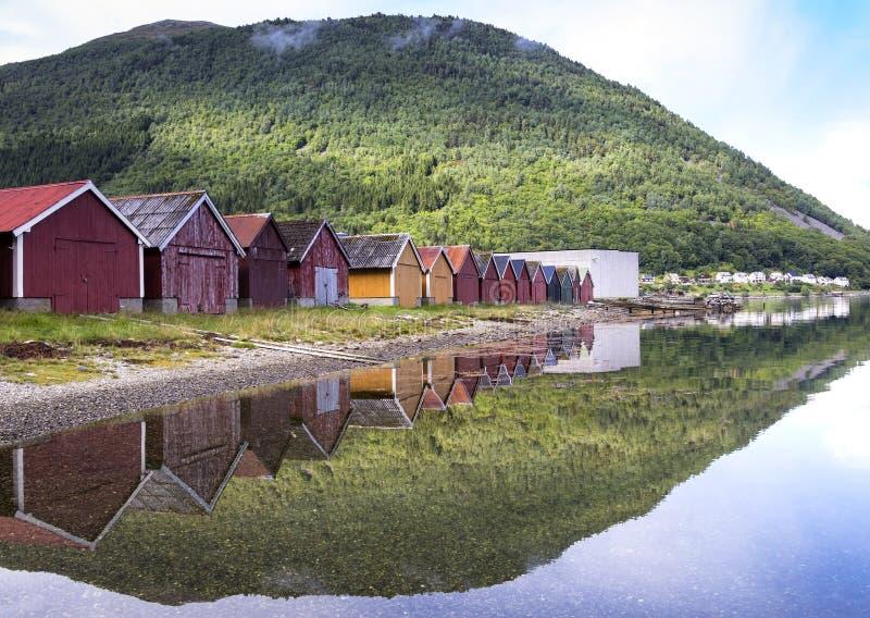Varaderos en el asilo de Stordal, Noruega fotografía de archivo libre de regalías