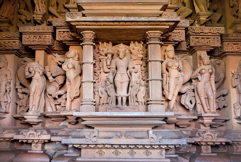 Varaha avatar of Vishnu sculpture inside of temple in Khajuraho, Madhya Pradesh in India stock image