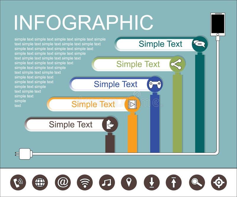 Varaktigheten av smartphonebruk royaltyfri illustrationer