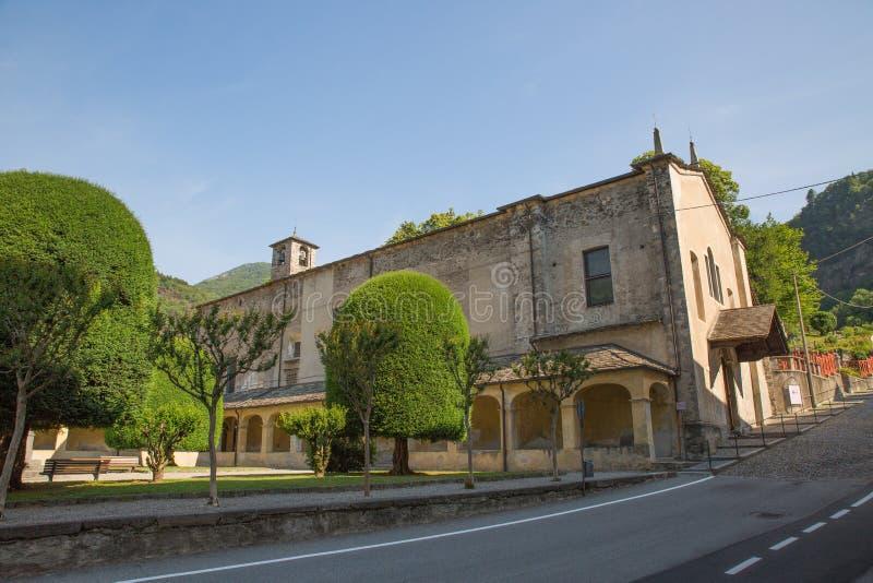 Varallo, Itália: Sacro Monte de Varallo, montanha santamente, é um local famoso da peregrinação em Itália fotos de stock royalty free