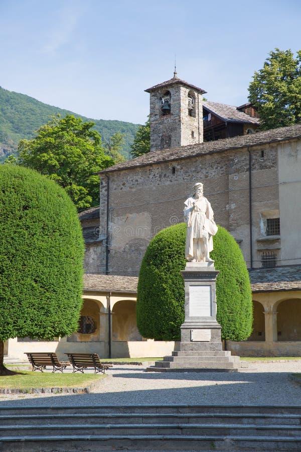 Varallo, Itália: Sacro Monte de Varallo, montanha santamente, é um local famoso da peregrinação em Itália fotografia de stock royalty free