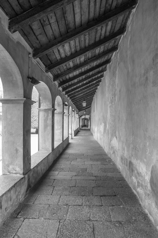 Varallo, Itália: Sacro Monte de Varallo, montanha santamente, é um local famoso da peregrinação em Itália fotos de stock